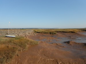 Bay of Fundy - Wolfville, NS - low tide. I never did get a chance to see it at high tide
