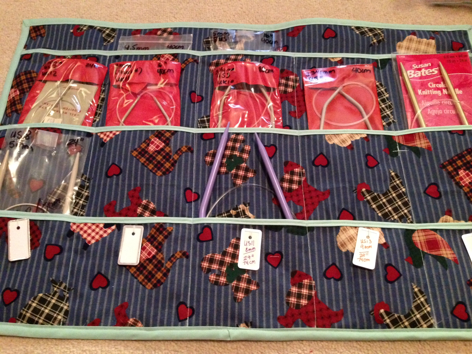 Knitting Needle Storage Case Pattern : Pattern for case circular knitting needles charlotte