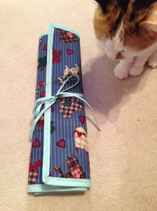 Case for Circular Knitting Needles - rolled up and cat approved