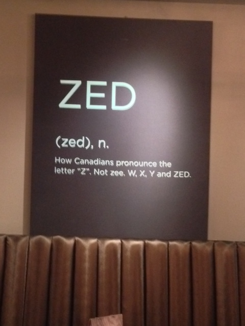 ZED - how Canadians pronounce the letter