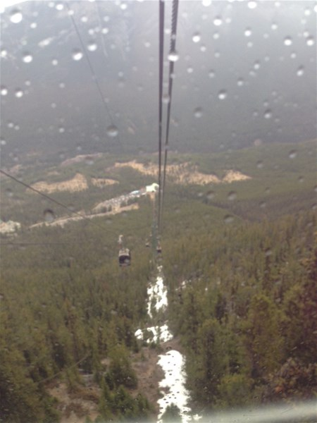 The gondola up the mountain - a must!