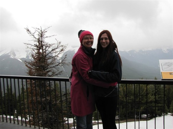 The Daughter and I near the top. It gets chilly that high up.