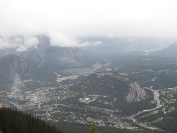 A view of Banff from above