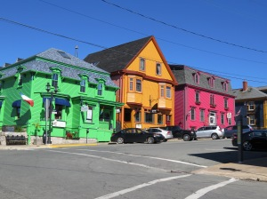 The colorful houses of Lunenburg, NS.