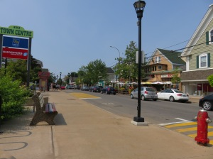 This is downtown Wolfville and seriously, you can pretty much see the entire downtown in this photo.