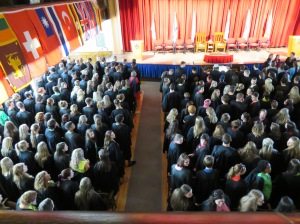 The matriculation - welcoming in ceremony