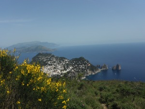 A view from the top of Capri (chair lift to the top )