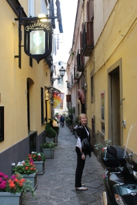 In the streets of Sorrento